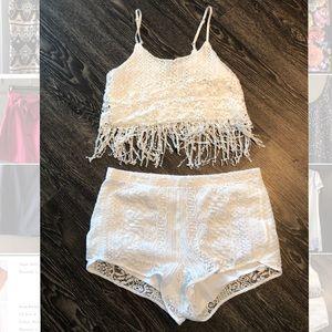 Two piece lace set